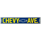 Chevy Ave Metal Sign